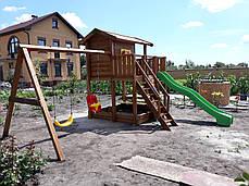 Детская площадка Spielplatz Витольд с двойной качелью, лазом и столиком, фото 2