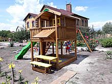Детская площадка Spielplatz Витольд с двойной качелью, лазом и столиком, фото 3