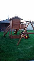 Детская площадка Spielplatz Витольд с двойной качелью, лазом, песочницей, прилавком, фото 3