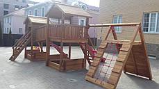 Детская площадка Spielplatz Виланд, Отто с лазом Эсто, качелями и двойной песочницей-трансформером, фото 3