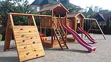 Детская площадка Spielplatz Виланд, Отто с лазом Эсто, качелями и двойной песочницей-трансформером, фото 2
