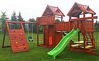 Детская площадка Spielplatz Палац Томас с домиком, лазом Эсто, качелью, столиком и канатной лесенкой