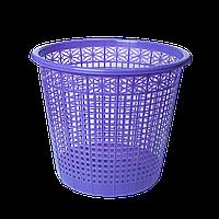 Корзина для бумаг пластиковая, фиолетовая, 8л zb.3040-07