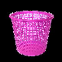 Корзина для бумаг пластиковая, розовая, 8л zb.3040-10