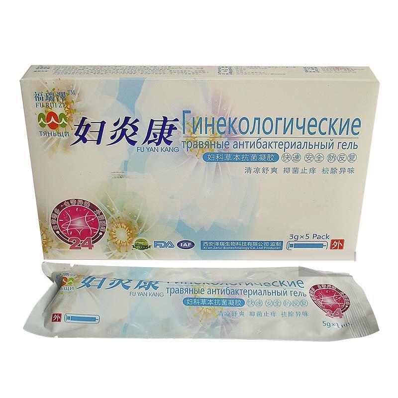 Гель гінекологічний Трав'яний антибактеріальний 5х3г для оздоровлення мікрофлори (5шт)