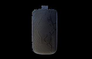Кожаный футляр Mavis Classic PYTHON 119x66/130x68 для HTC 400/Samsung i8262