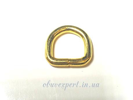 Полукольцо  проволочное 15*15 мм  Золото, фото 2