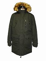 Мужская зимняя котоновая удлиненная куртка - парка на холлофайбере Glo-Story, Венгрия