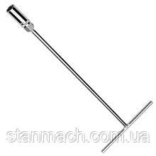 Т-обр магнитный свечной ключ 16мм     L450мм  TOPTUL CTHA1645