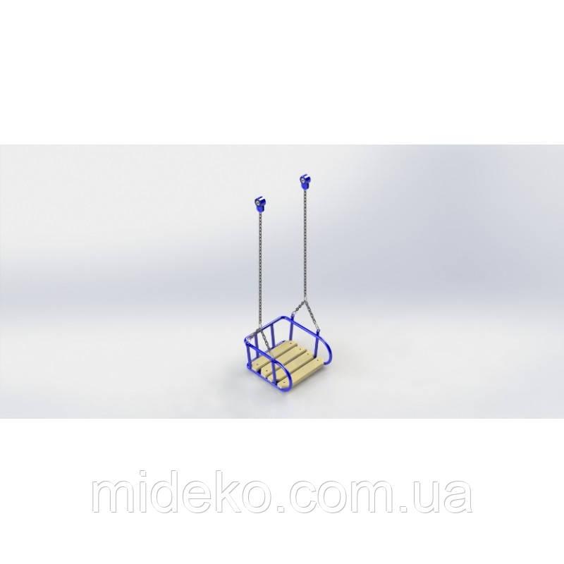 Люлька на цепях (деревянное сиденье )