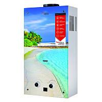 Колонка газовая проточная Aquatronic JSD20-AG308 10 л стекло (пляж)