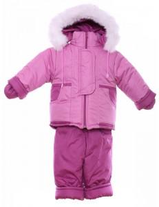 Зимний комбинезон костюм нолевка от 6 мес. до 18 мес. до 86 см - розовый, 2 вида