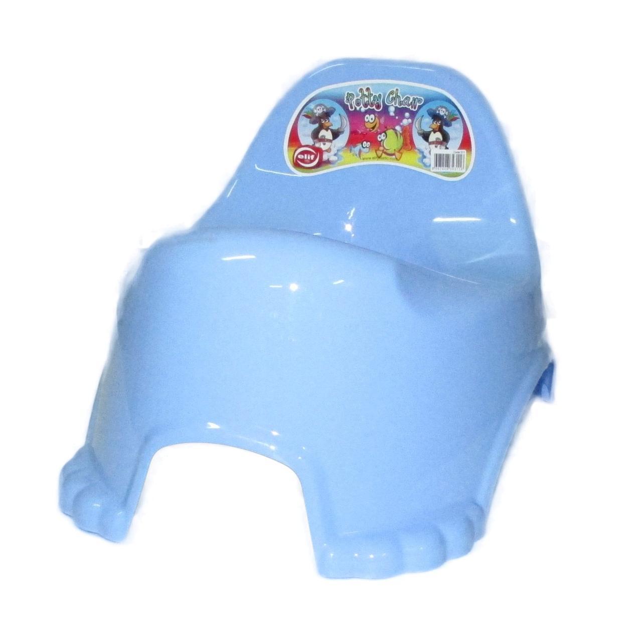 Горшок п/э детский Elif голубой