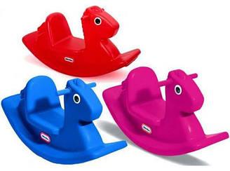 Качалка Лошадка Little Tikes 1670 красная и 4279 синяя, розовая
