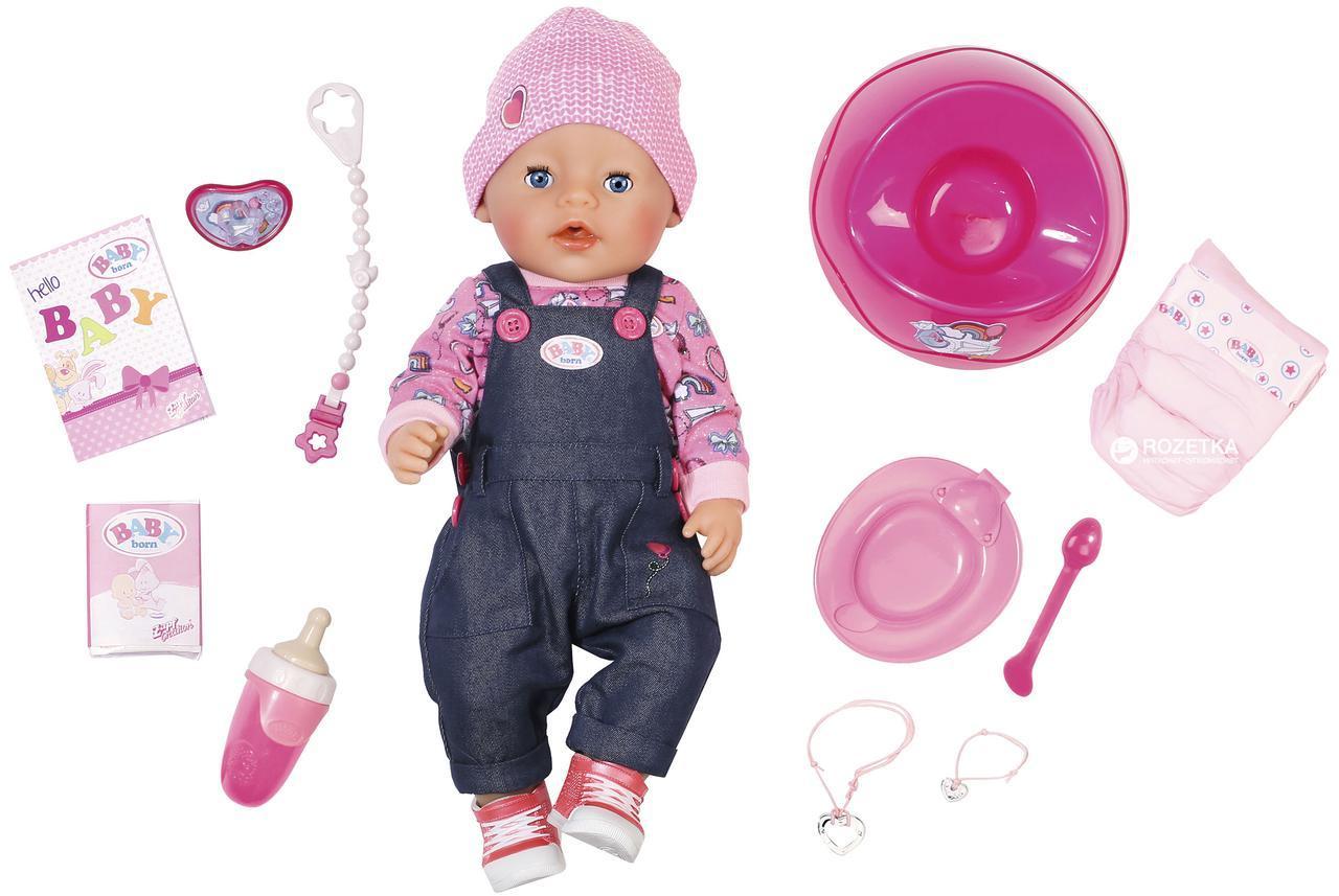 Кукла Zapf Baby Born Джинсовый Стиль 43 см с аксессуарами (824238)