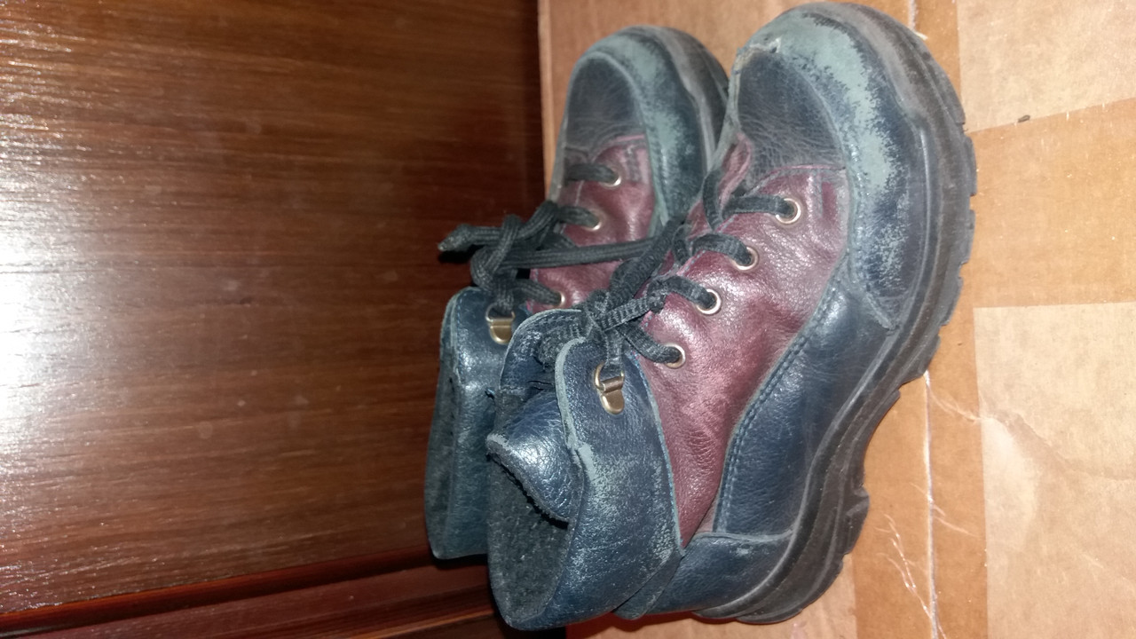 Детские демисезонные кожаные ботинки р.27 (17,5см)