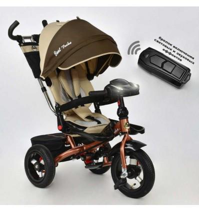 Велосипед 3-х кол. 6088 F - 1540 Best Trike, надувные колёса, поворотное сидение, пульт, фара