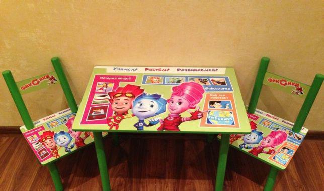 Детский столик и 2 стульчика, серия мультик, Фиксики, Украина