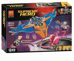 """Конструктор Bela 10748 (аналог Lego Super Heroes 76081) """"Милано против Абелиска"""" 481 дет."""