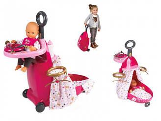 Игровой набор Smoby Baby Nurse Раскладной чемодан с аксессуарами (220316)