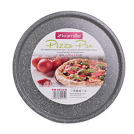 Форма для запекания пиццы Kamille 29см из углеродистой стали KM-6016M