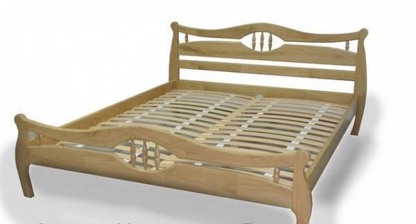 Ліжко Корона-2, дерев'яна, фото 2