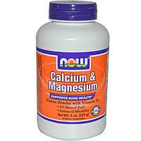 Кальций и магний с витамином Д3, Now Foods, 1:1, 227 г