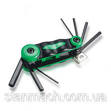 Набор складной ключей HEX: 2,2.5,3,4,5,6,8мм (материал CRV-6150)  TOPTUL AGFB0701