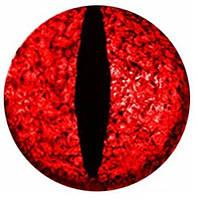 """Подвес """"Змеиный глаз красный"""" на шнурке, фото 1"""