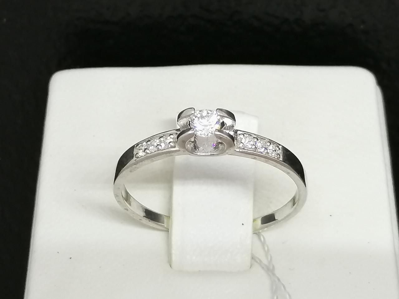 Серебряное кольцо с фианитами. Артикул КВ1105С 17