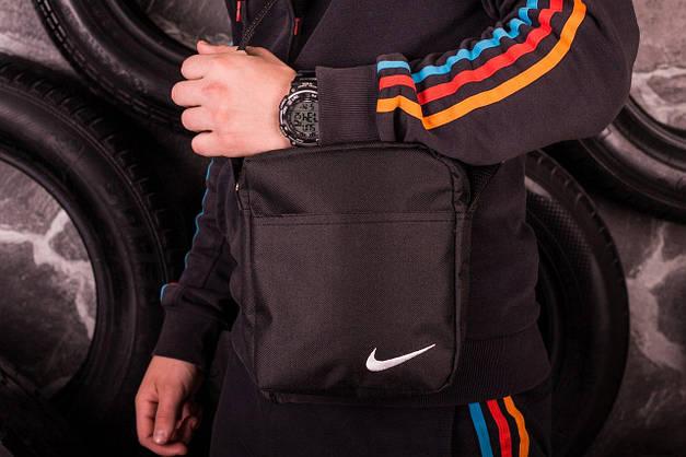 Комплект: Ветровка Найк (Nike) + Штаны + Барсетка в подарок. Спортивный костюм, фото 3