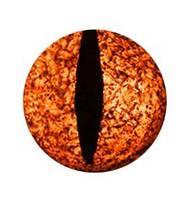 """Подвес """"Змеиный глаз оранжевый"""" на шнурке, фото 1"""