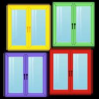 Ламинированные цветные металлопластиковые конструкции  ALUPLAST и OPENTECK