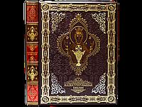 Книга «Иллюстрированная Библия» в кожаном переплете с тиснением. Ручная работа