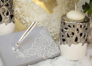 Свечи и ручки для росписи на свадьбу