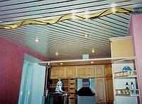 Алюминиевый реечный потолок Свалява