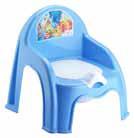 Горшок п/э детский со спинкой и крышкой Elif голубой
