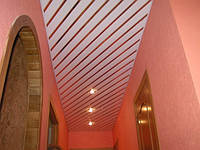 Алюминиевый реечный потолок Рахив