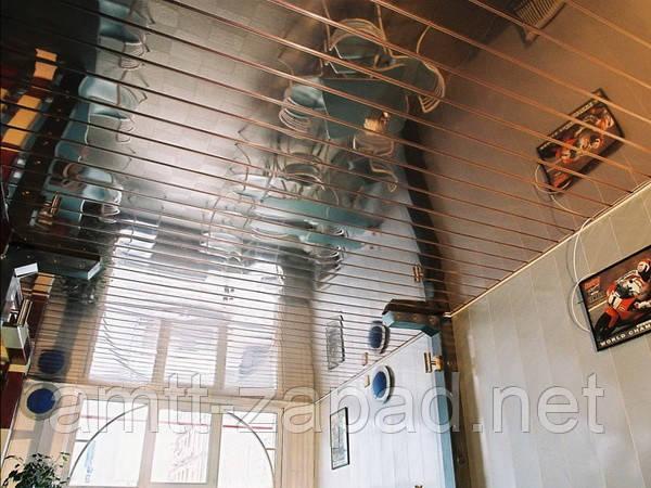 Алюминиевый реечный потолок Яремче