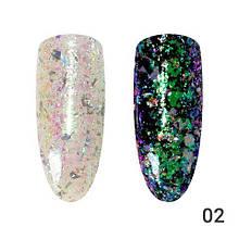 Втирка для ногтей, Хлопья-стружка Global Fashion 02