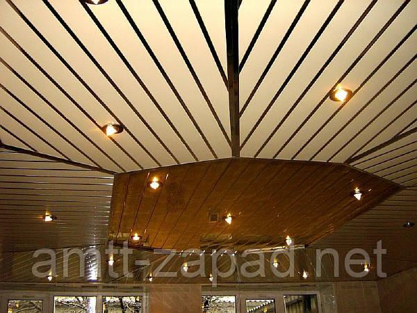 Алюминиевый реечный потолок Путила
