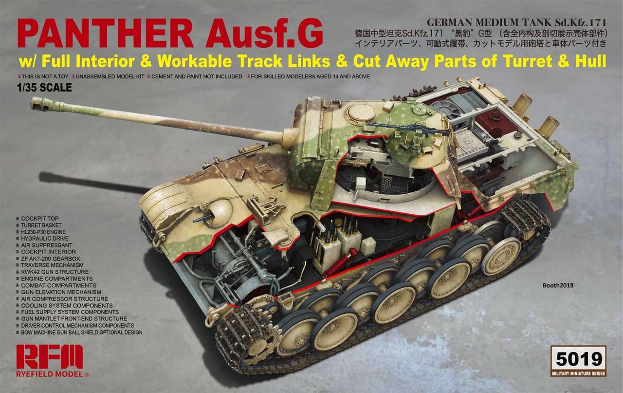 Немецкий средний танк Пантера AUSF.G с полным интерьером. 1/35 RFM RM-5019
