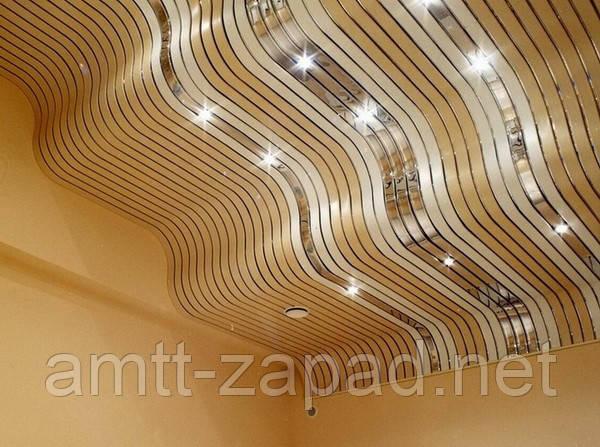 Алюминиевый реечный потолок Чоп