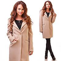Красивое женское кашемировое пальто осень-весна42-46р. (2расцв)