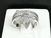 Серебряное кольцо с фианитами. Артикул КВ646(3)С 17,5, фото 1