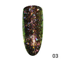 Втирка для ногтей, Хлопья-стружка Global Fashion 03