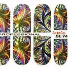 Наклейки для Ногтей Ноготки PhotonailArt Водные Angevi SL 74 Абстракция Разноцветная, фото 4
