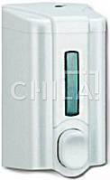 Дозатор жидкого мыла (500 мл), пластик, белый 90х90х160мм