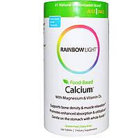 Кальций и магний (Calcium Magnesium) с витамином Д3, Rainbow Light, 2:1, 180  таблеток