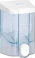 Дозатор для жидкого мыла пластик прозрачный 90х90х160 (0,5л)